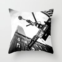 West 33rd street Throw Pillow