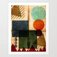 Implied Geometry Art Print