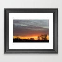 Winter Orange  Framed Art Print