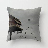 A Little Bird Told Me... Throw Pillow