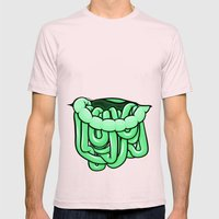 viscera : melon Mens Fitted Tee Light Pink SMALL
