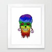Melty face Framed Art Print