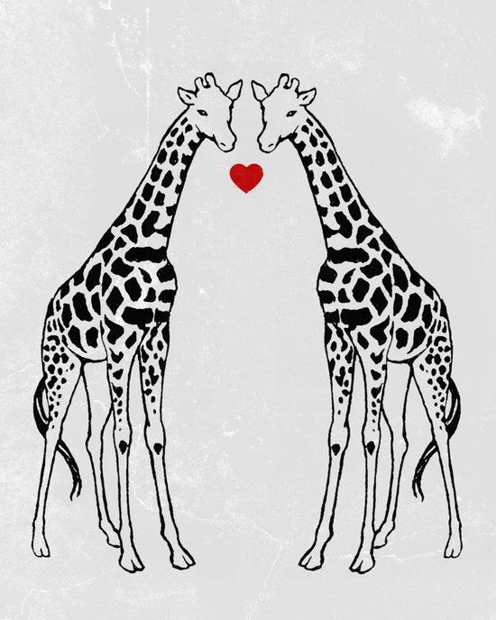 Giraffe Love Canvas Print