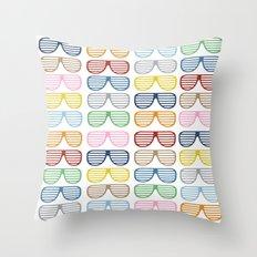 Rainbow Shades Throw Pillow