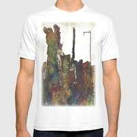 Farillo Mens Fitted Tee White SMALL
