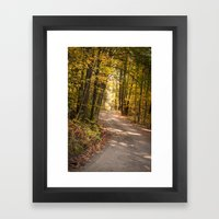 The Road Less Traveled (New England Fall) Framed Art Print