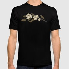 Magnolias Branch Mens Fitted Tee Black SMALL
