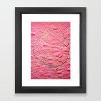 Smile on a pink toilet paper Framed Art Print