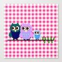 Pretty Owls  Canvas Print