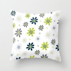 Simple Multi Flower Throw Pillow