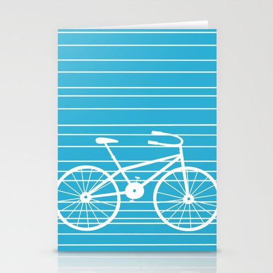Blue Bike by Friztin Stationery Card