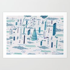 Northern Town Art Print
