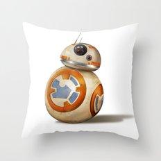 Cute Little Droid Throw Pillow