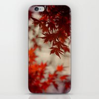 a touch of crimson iPhone & iPod Skin