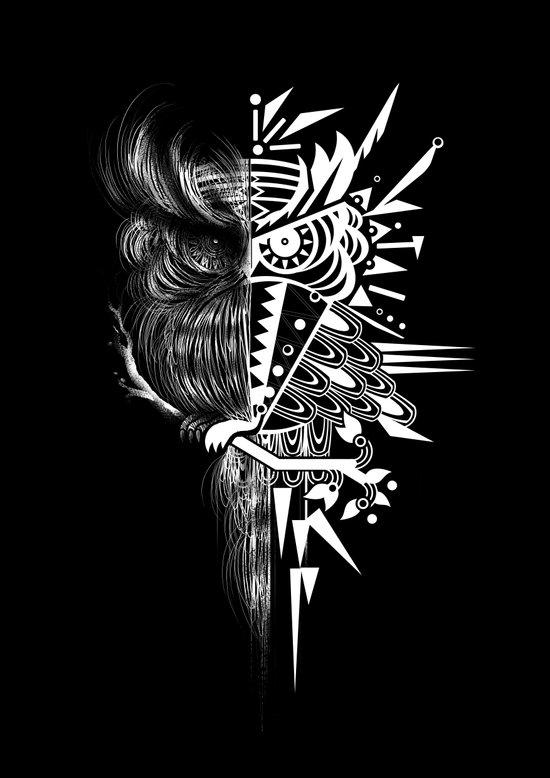 OWLGRAFIK Art Print
