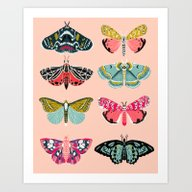 Art Print featuring Lepidoptery No. 1 By And… by Andrea Lauren Design