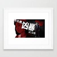 Violent Cop Framed Art Print