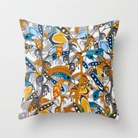Multicolor Horse Feathers Throw Pillow