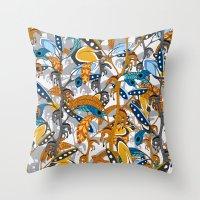 Multicolor Horse Feather… Throw Pillow