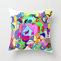 Can you spot the faces? Throw Pillow