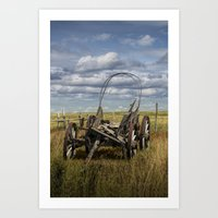 Abandoned Covered Wagon … Art Print