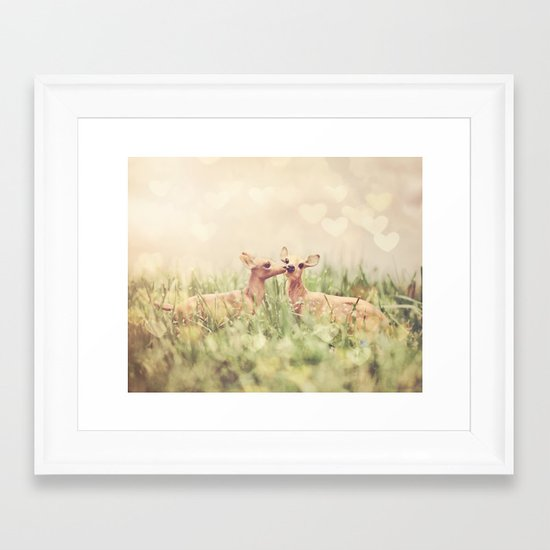 Let's Meet in the Middle Framed Art Print