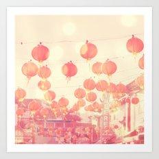 Chinatown. Los Angeles photograph Art Print