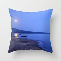 Moon Shimmering On Super… Throw Pillow