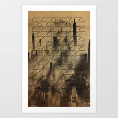 triangulating  Art Print