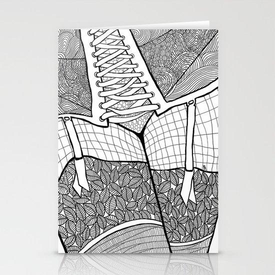 La femme 11 Stationery Card
