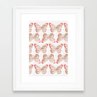 Butterflies three Framed Art Print