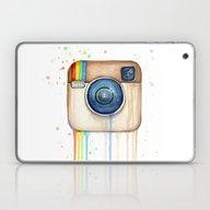 Laptop & iPad Skin featuring Intsa-Rainbow Watercolor by Olechka