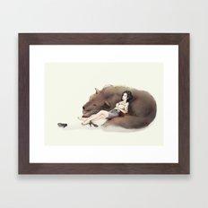 Snow White and Bigby Framed Art Print