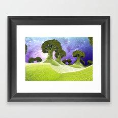 Broccoli Planet / / #fractal #fractals #3d Framed Art Print