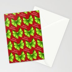 Merry Christmas Bows Stationery Cards