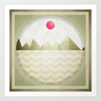 Pinked Sands Art Print