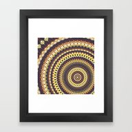 Framed Art Print featuring Mandala 139 by Patterns Of Life