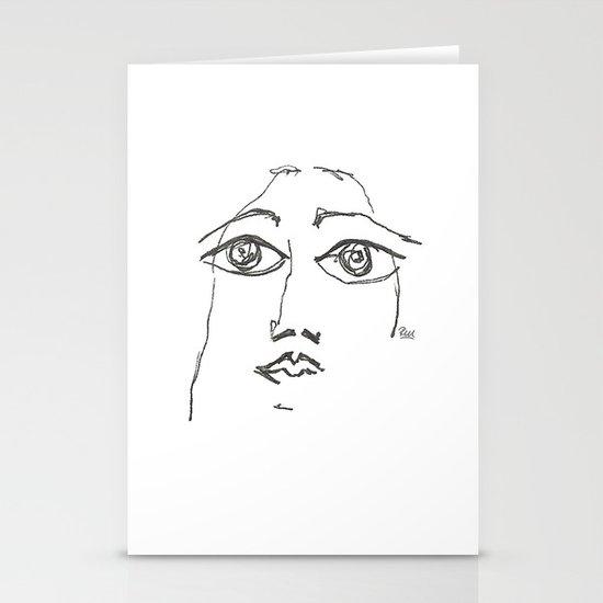 Woman gazing Stationery Card