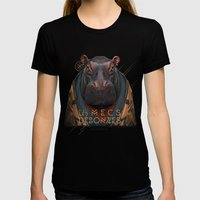 Hippo Womens Fitted Tee Black SMALL