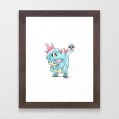 Caught in a DILEma Framed Art Print