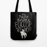The Night Is Dark And Fu… Tote Bag