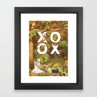 Framed Art Print featuring Oh, Xoxo... by Heather Landis