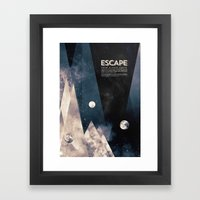 Escape, from planet earth Framed Art Print