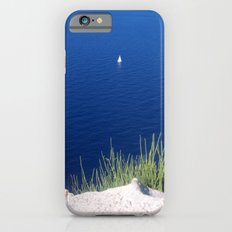 Lonely sailboat off the Mediterranean coast iPhone 6 Slim Case
