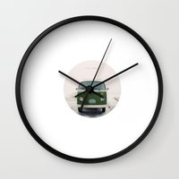 LIVE SIMPLY. Vintage Volkswagen Van.  Wall Clock