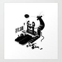 Panda Protest Art Print