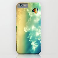 iPhone & iPod Case featuring The Colorful Balloon In The Sky - Painting Style by ElvisTR