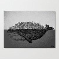 Whale City Canvas Print