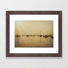 Foggy Seaside Morning Framed Art Print