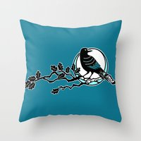 Crow And Oak Throw Pillow